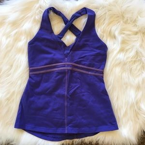 Lululemon Cross Back Tank Top Purple 2